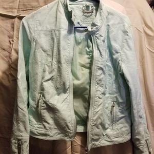 JouJou mint leather jacket sz. M
